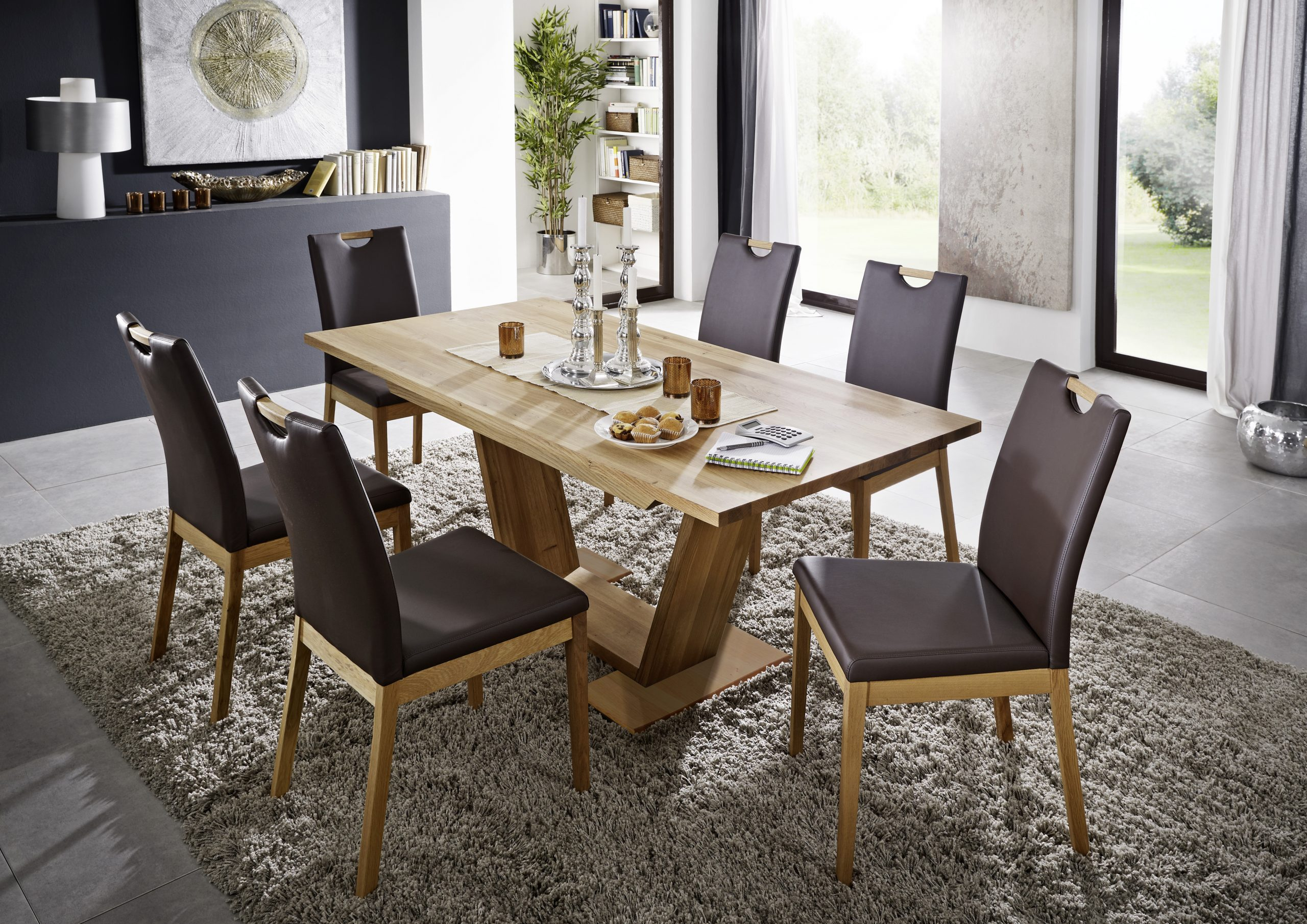 Tischgruppe Massivholz Wildeiche Palma